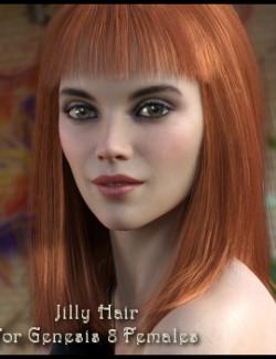 Jilly Hair for Genesis 8 Females