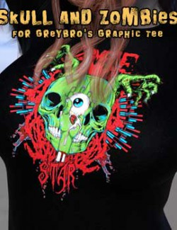 Skull and Zombies for Greybro's Graphic Tee