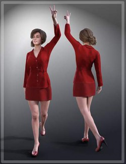 dForce Secretary Outfit for Genesis 8 Females