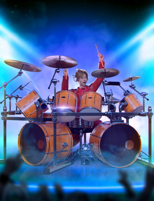 Drum Animations for Genesis 8.1 Male and Kota 8.1