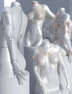 Body Chains 3 for Genesis 3 and 8.1 Females