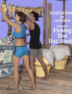 Fishing Hut for Daz Studio Starter Poses for Genesis 8 Male and Female