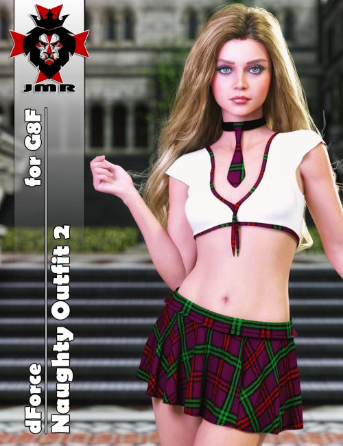 JMR dForce Naughty Outfit 2 for G8F