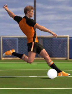 Soccer Poses for Genesis 8 and Genesis 8.1 Male