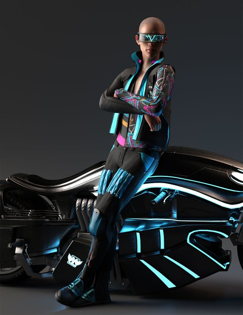 Cyber Man Outfit for Genesis 8 Males