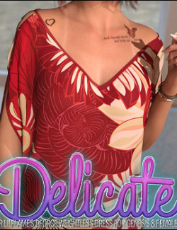 Delicate for dForce Weightless Dress for Genesis 8 Female(s)