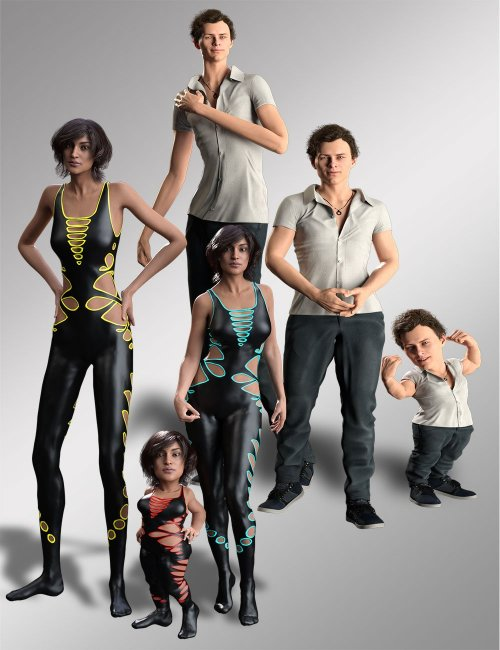 Phenotypes Shape and Pose Bundle for Genesis 8