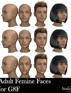 Adult Female Faces Morphs for G8F and G8.1F
