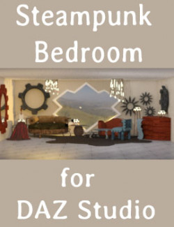 Steampunk Bedroom for DAZ Studio