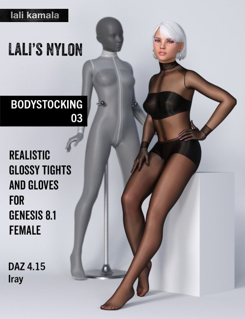 Lali's Bodystocking 03 with Gloves for Genesis 8.1
