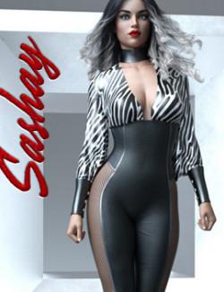 Sashay dForce pantsuit for Genesis 8 Female(s)