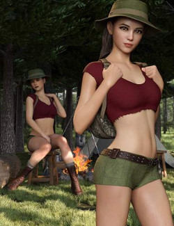 Jungle Girl Outfit Set for Genesis 8 and 8.1 Females