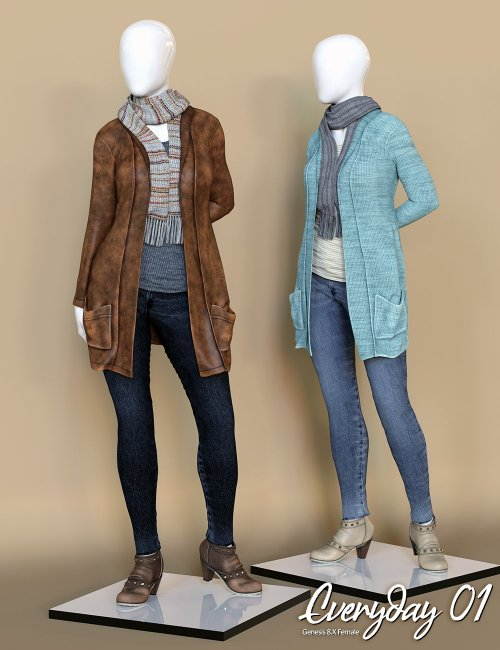 Everyday 01 dForce Clothing Set for Genesis 8 Female