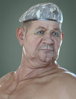 Colonel Kirk HD for Genesis 8.1 Male