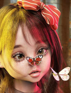 Flitterbye Butterfly and Poses for Genesis 8 Female