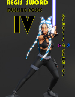 Aegis Sword: Dueling Poses IV for Genesis 3 & 8 Females