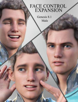 Face Control Expansion for Genesis 8.1 Male