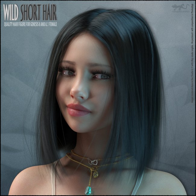 Wild Short Hair for Genesis 8 and 8.1