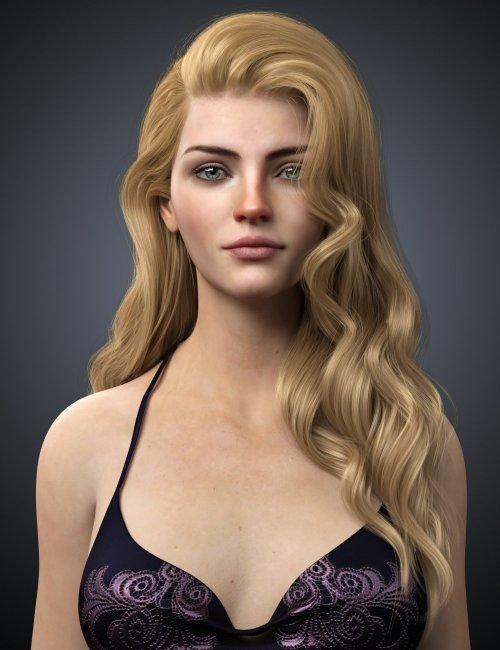 Ethel Hair for Genesis 8 and 8.1 Female