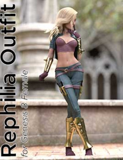 dForce Rephilia Outfit for G8F