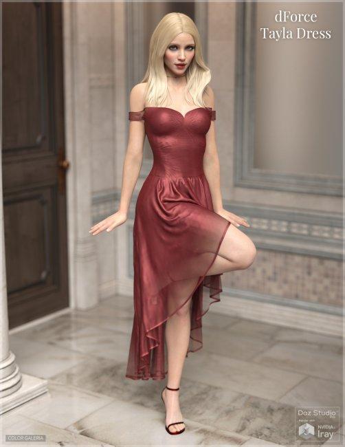dForce - Tayla Dress for Genesis 8 Female
