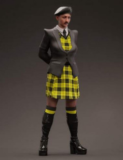 dForce Fashion Cadet Outfit for Genesis 8.1 Females