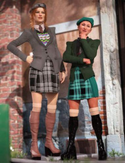 dForce Fashion Cadet Outfit Textures