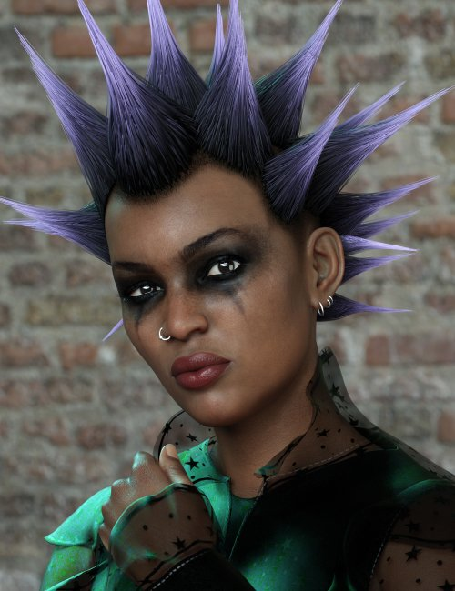 Spiked Punk Hair for Genesis 3, 8, and 8.1