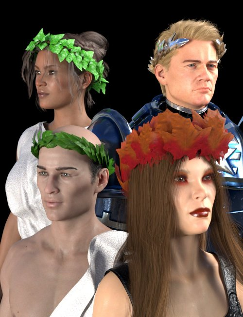 SY Leafy Crowns for Genesis 8 and 8.1
