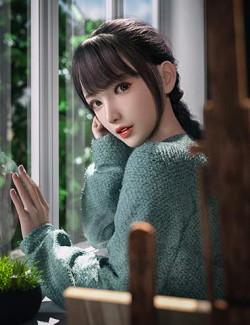 Gu Yu and Gu Yu Hair for Genesis 8.1 Female