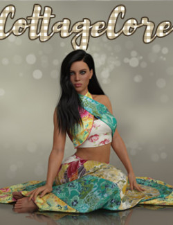 CottageCore dforce outfit for Genesis 8 Female(s)