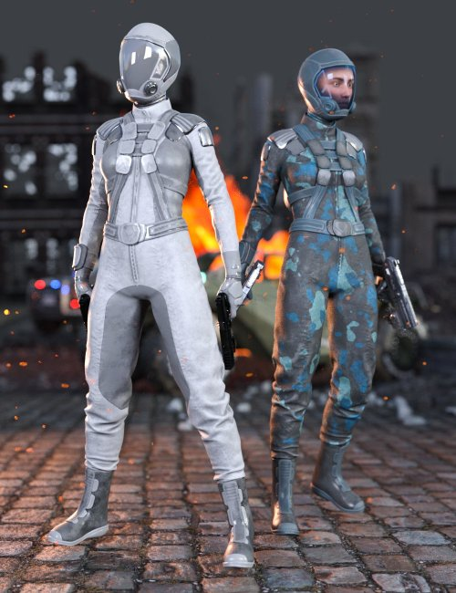 Sci-Fi Gravity Suit Outfit for Genesis 8 and 8.1 Females