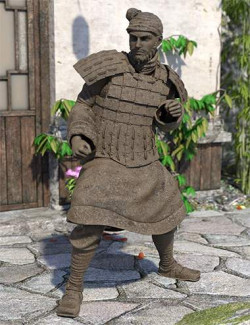 The Action Terracotta Warrior for Genesis 8.1 Male and Michael 8.1