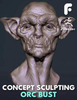 Concept Sculpting an Orc Bust