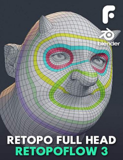 Retopologizing a Head With RetopoFlow 3