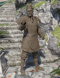The Action General Terracotta Warrior for Genesis 8.1 Male and Michael 8.1