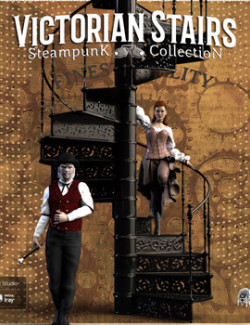 Steampunk Collection Victorian Spiral Staircase DS