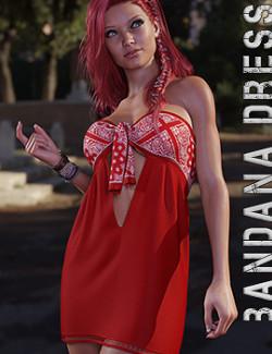 dForce Bandana Dress for Genesis 8 Females