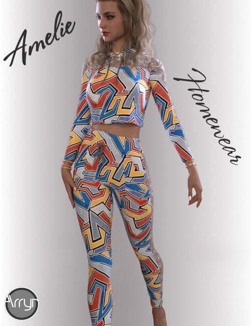 dForce Amelie Homewear for Genesis 8.1 Females