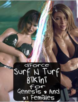 dForce Summer Surf N Turf Bikini for Genesis 8 and 8.1 Females