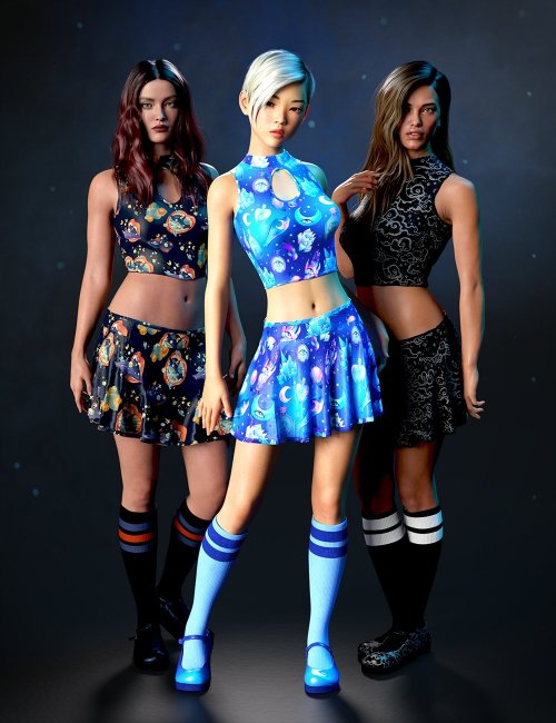 dForce Sugar Rush Outfit - Goth Candy Textures