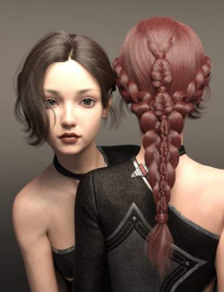 Cui and Cui Hair with Expressions for Genesis 8.1 Female
