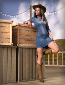 MD dForce Classic Jeans Outfit for Genesis 8 and 8.1 Female