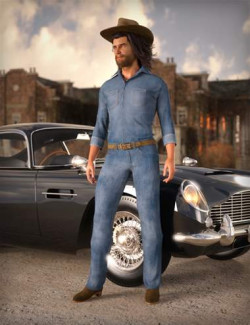 MD dForce Classic Jeans Outfit for Genesis 8 and 8.1 Male