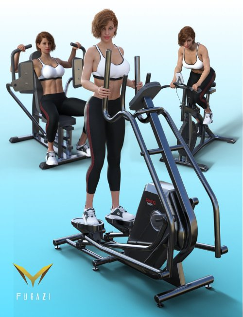 FG Fitness Equipment and Poses for Genesis 8 and 8.1 Females
