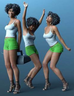 CDI Seventies Poses for Genesis 8.1 Female