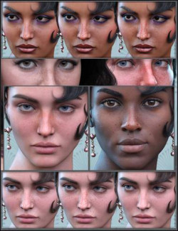 Sun-kissed Facial Freckles for Genesis 3, 8 and 8.1 Females