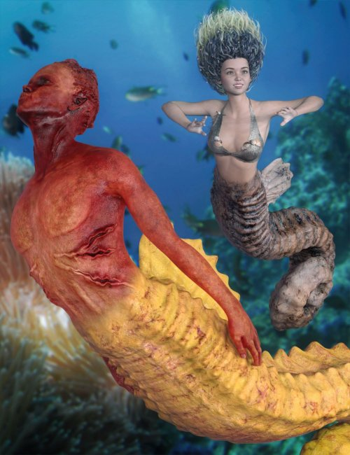 SeaHorse MegaBundle for Genesis 8.1 and for Seahorse Tails
