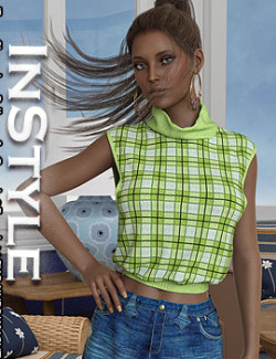 InStyle- dForce Sleeveless Pullover for Genesis 8 Female(s)