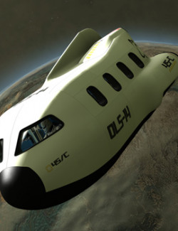 Colony Shuttle for Poser and DS